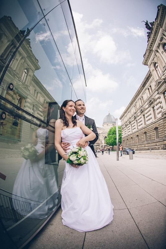 Hochzeit mit Trash-the-dress in Dresden und Zabeltitz