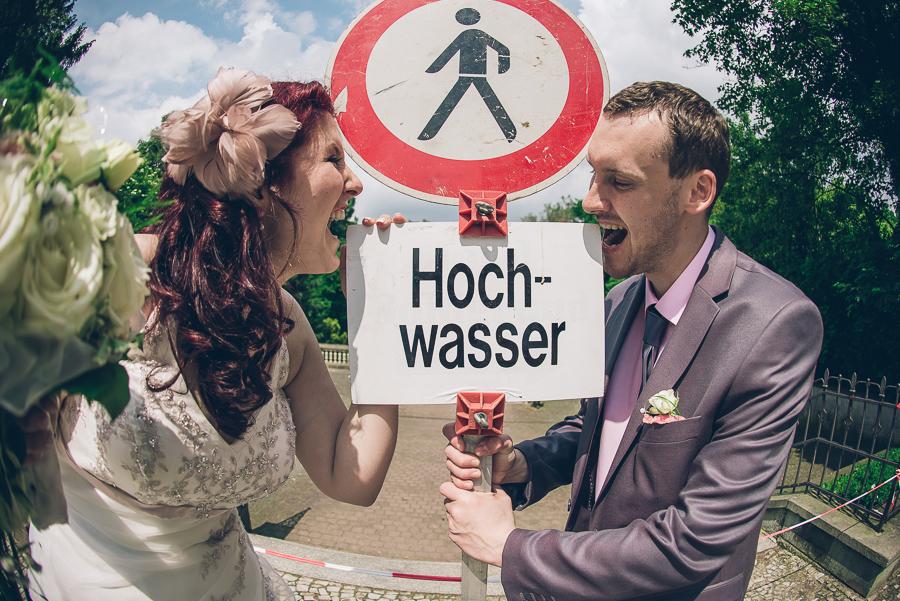 Hochzeit mit Hochwasser in Riesa