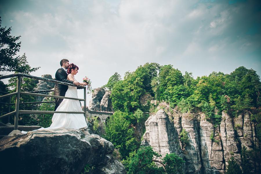 Hochzeit auf der Bastei im Elbsandsteingebirge
